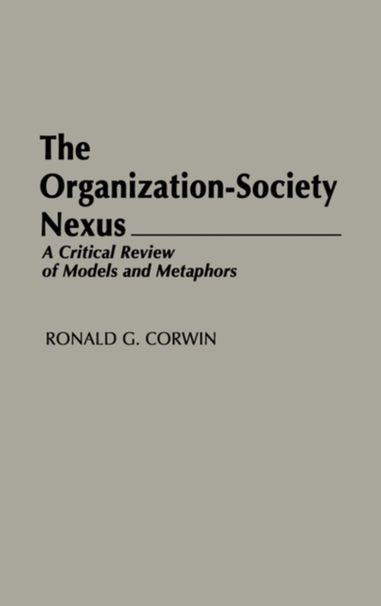 The Organization-Society Nexus