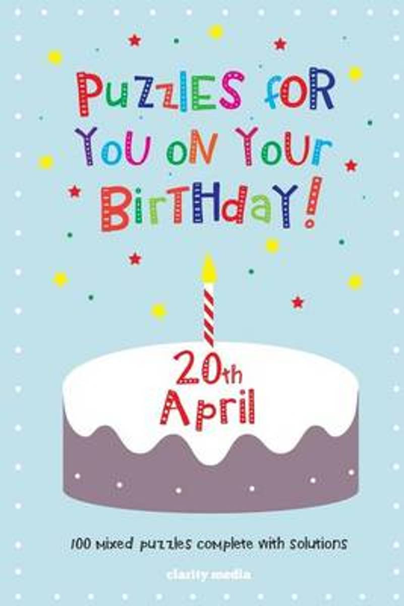 Puzzles for You on Your Birthday - 20th April