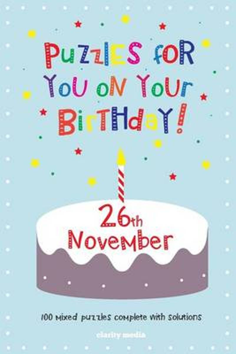 Puzzles for You on Your Birthday - 26th November