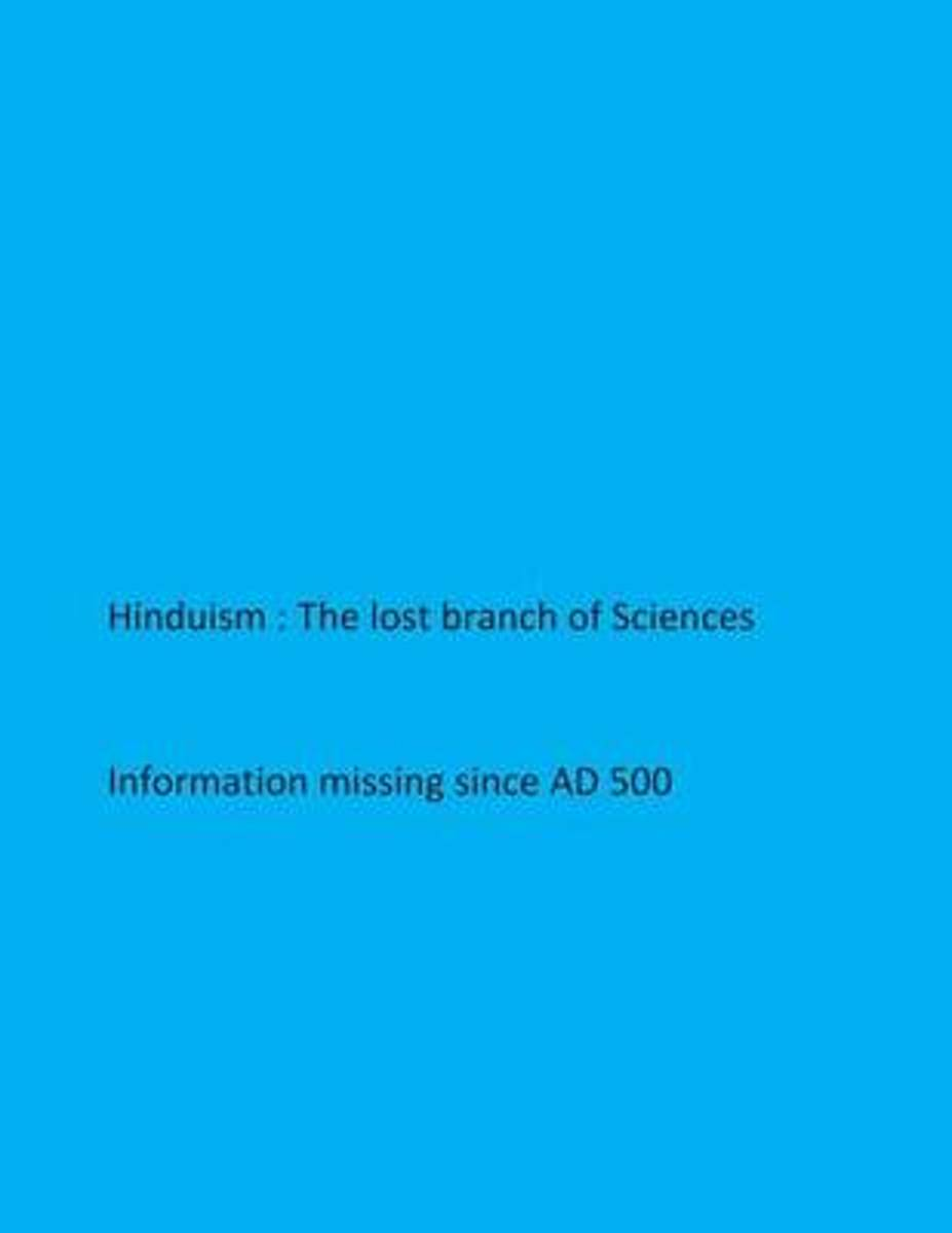 Hinduism- The Lost Branch of Sciences