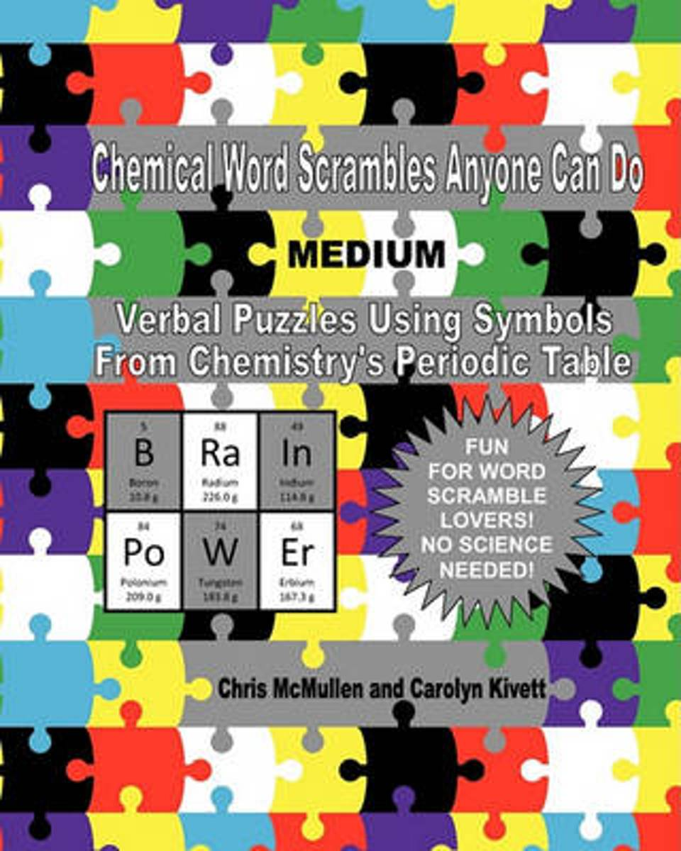 Chemical Word Scrambles Anyone Can Do (Medium)