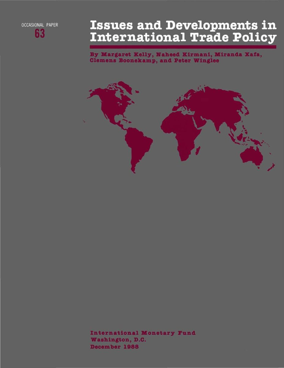 Issues and Developments in international Trade Policy - Occa Paper No.63