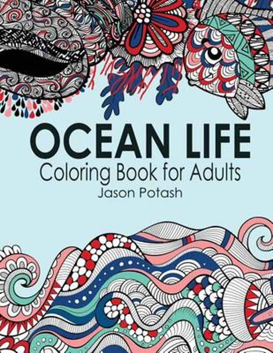 Ocean Life Coloring Book for Adults