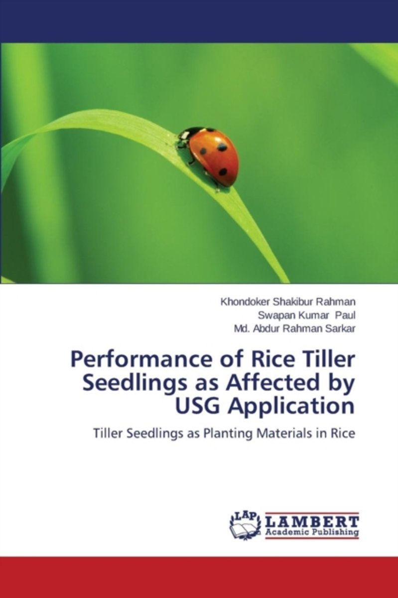 Performance of Rice Tiller Seedlings as Affected by Usg Application