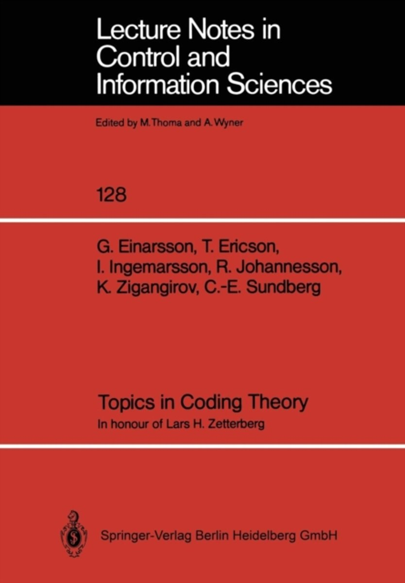 Topics in Coding Theory