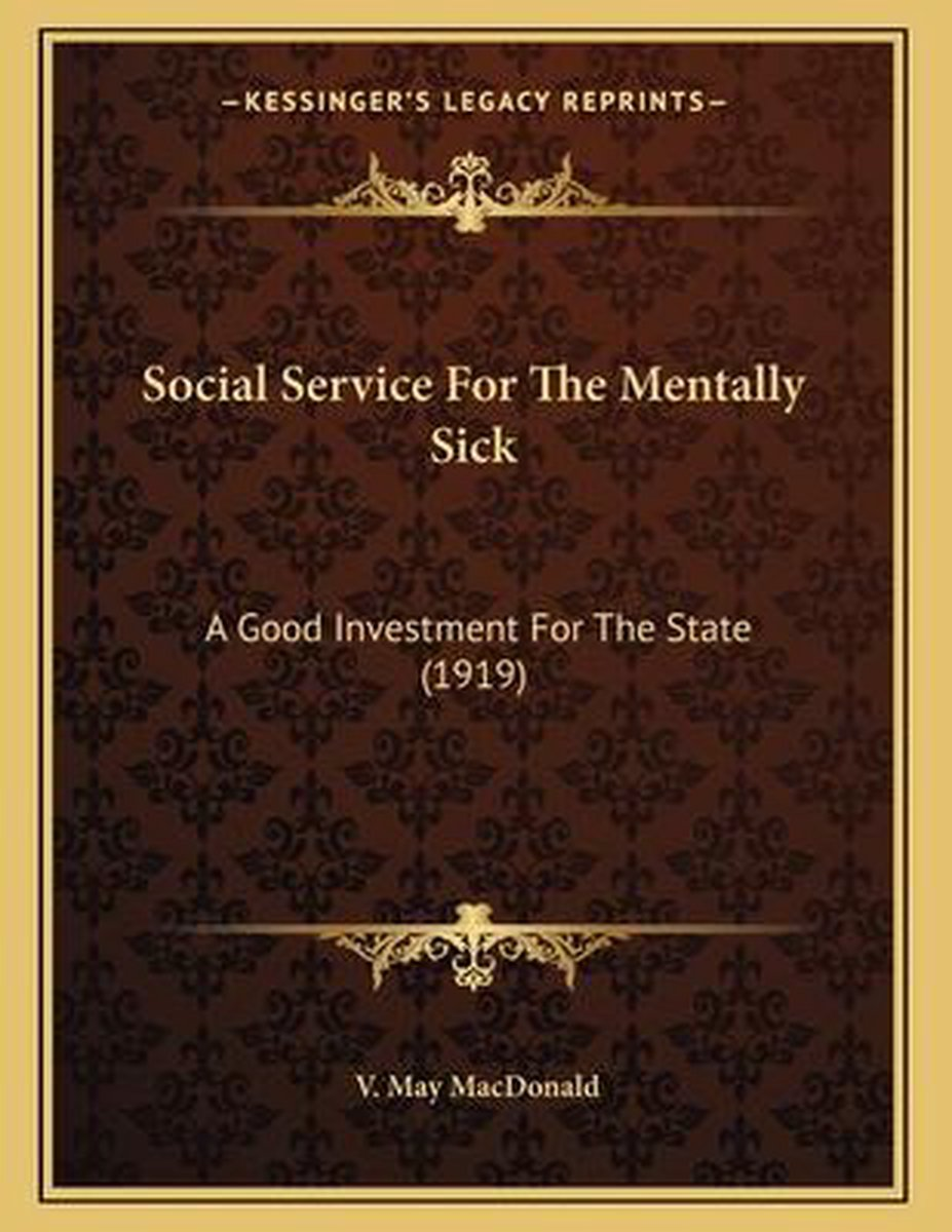 Social Service for the Mentally Sick