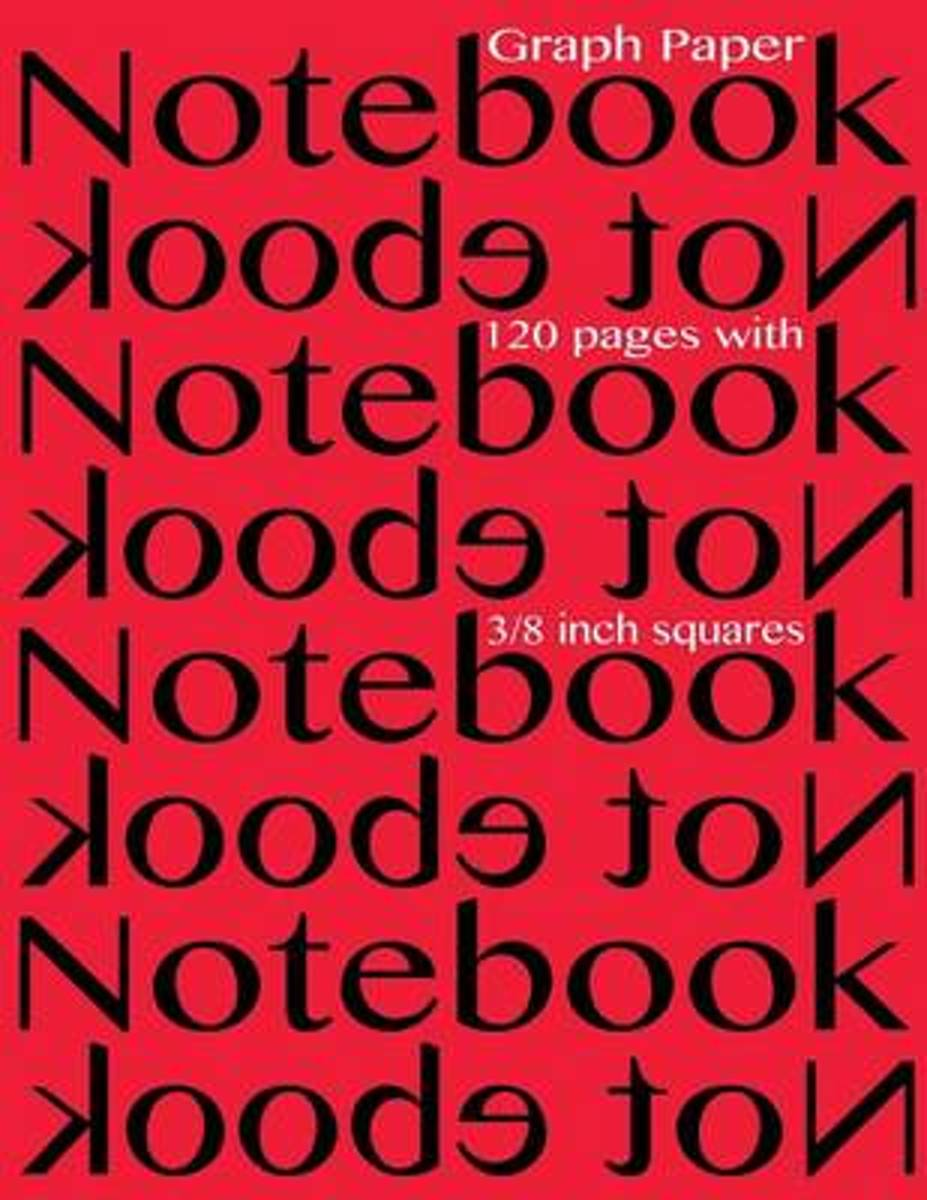 Graph Paper Notebook 3/8 Inch Squares 120 Pages