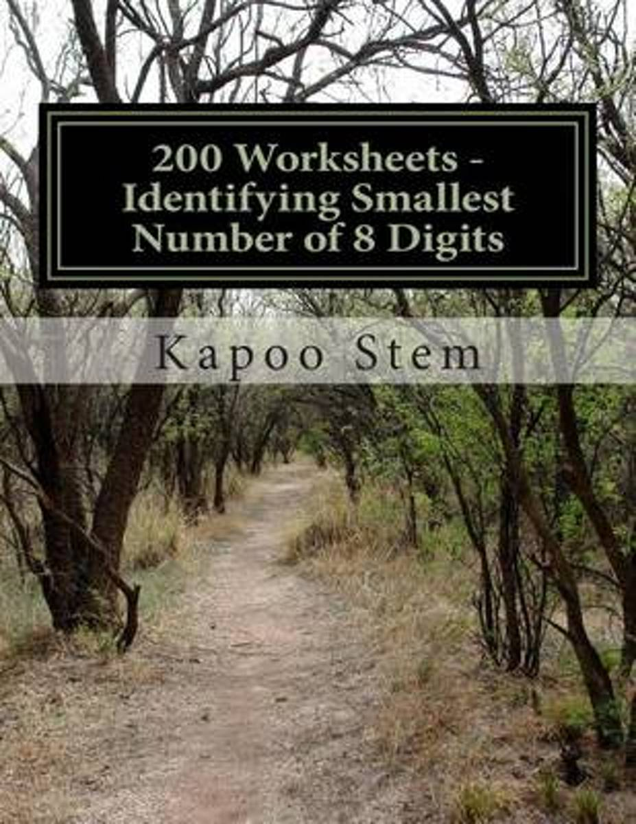 200 Worksheets - Identifying Smallest Number of 8 Digits