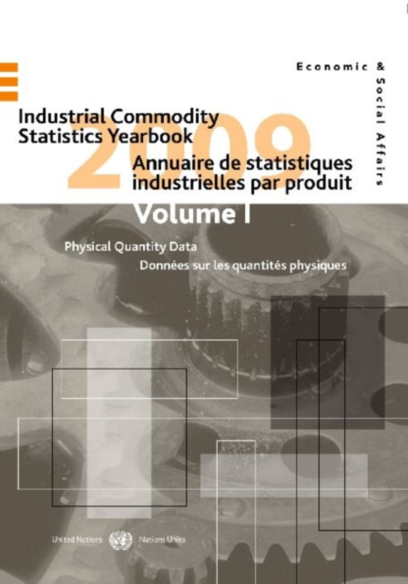 Industrial commodity statistics yearbook 2009