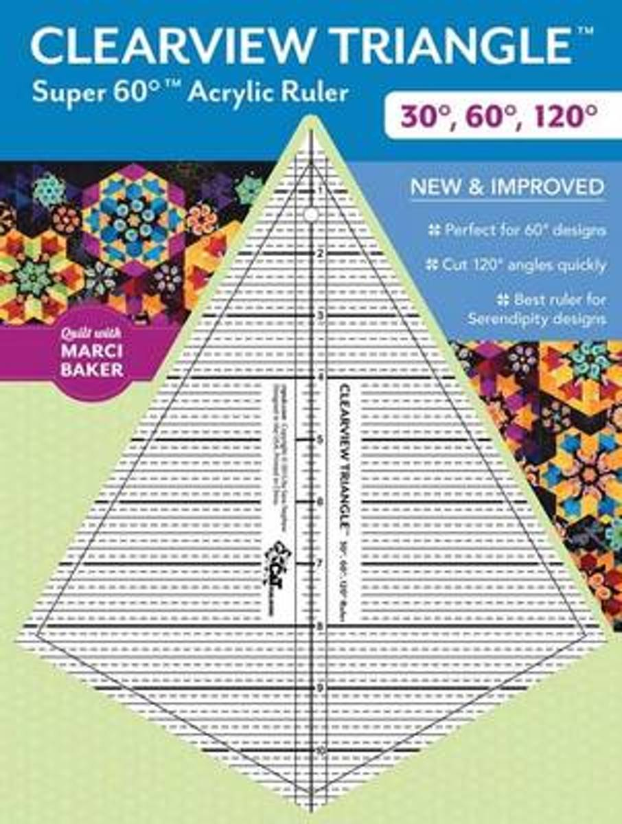Clearview Triangle Super 60 Acrylic Ruler