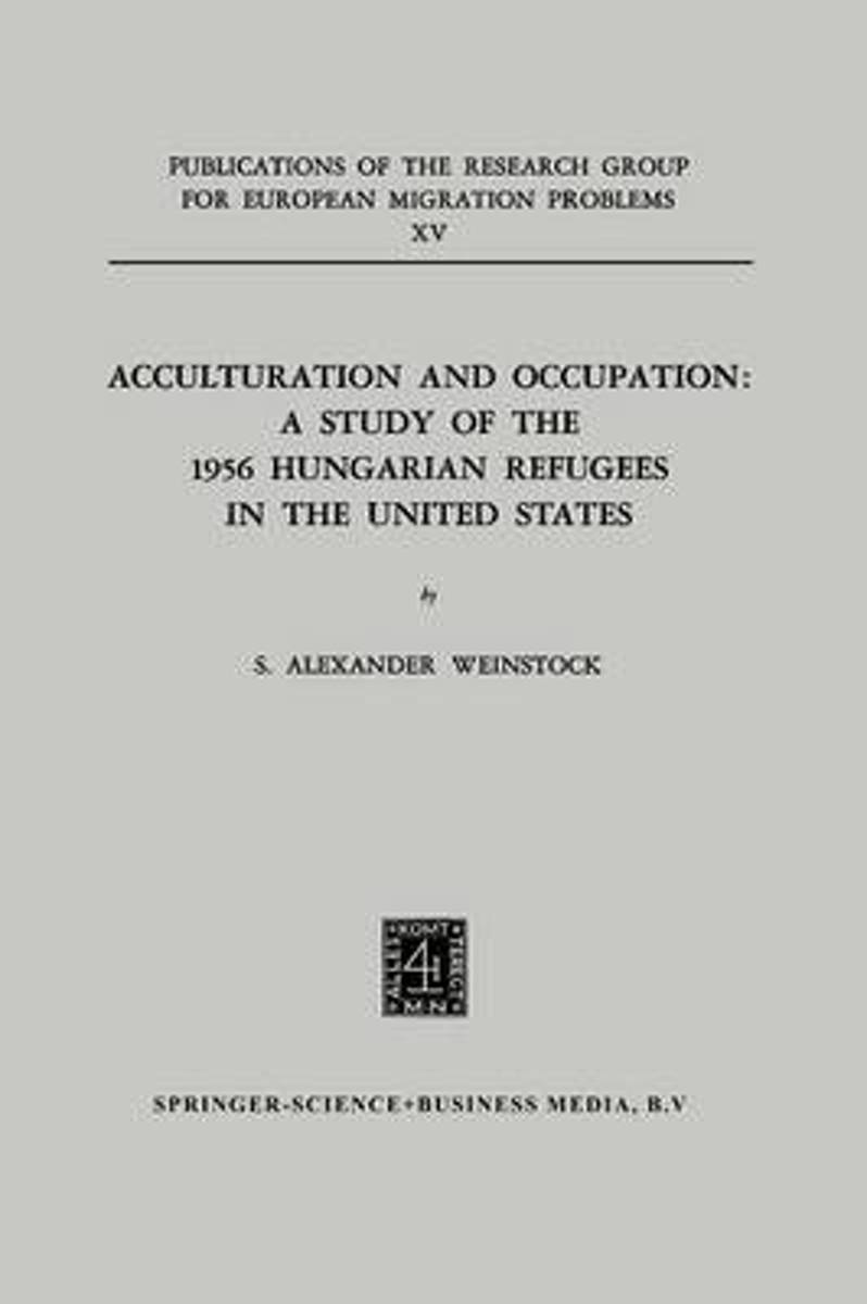 Acculturation and Occupation