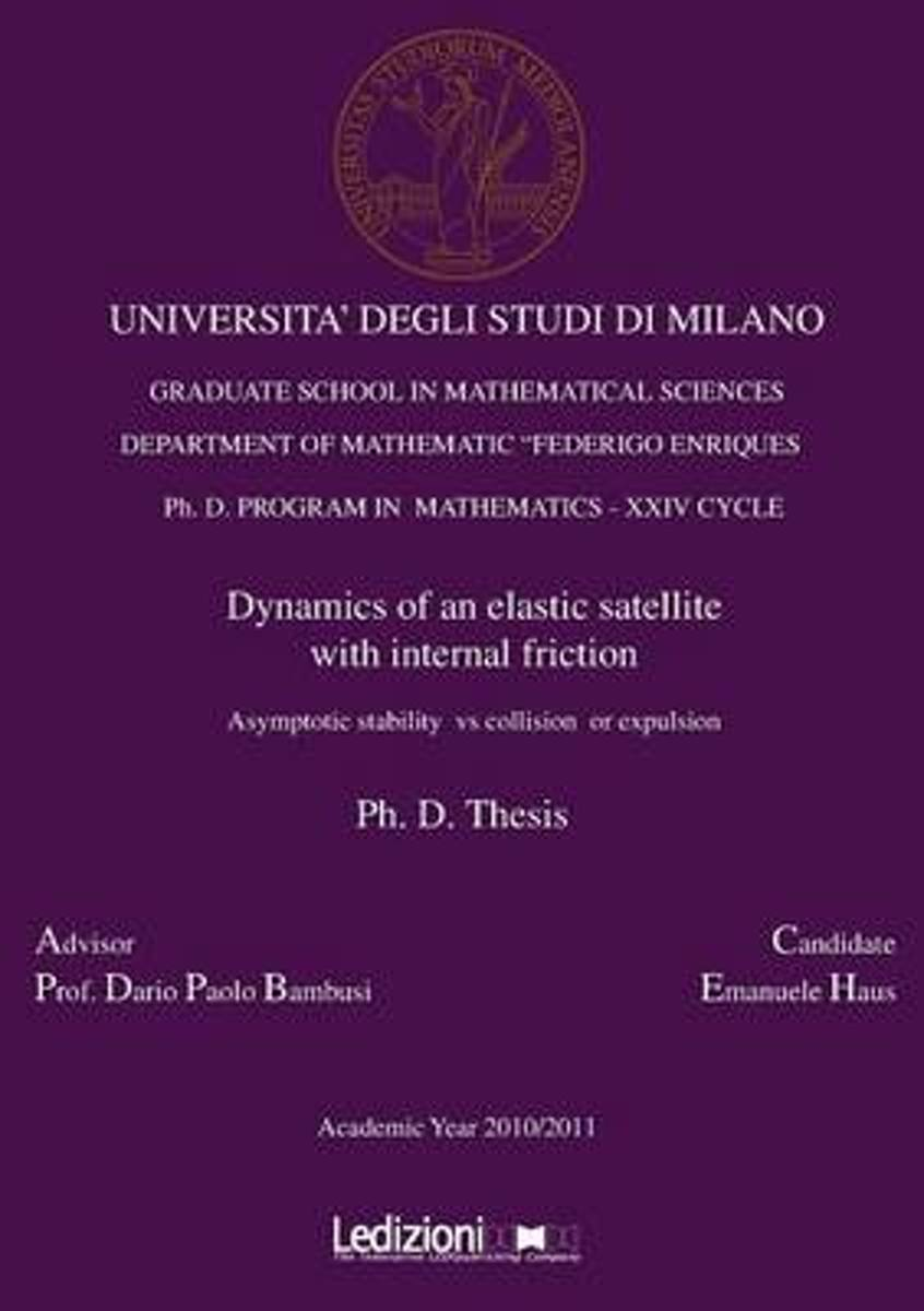 Dynamics of an Elastic Satellite with Internal Friction. Asymptotic Stability Vs Collision or Expulsion