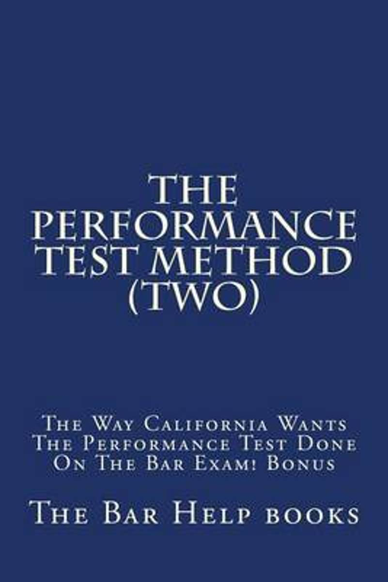 The Performance Test Method (Two)