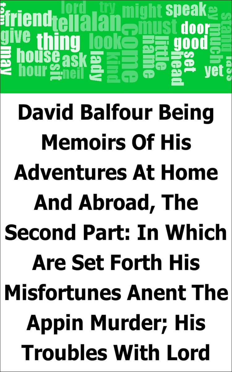 David Balfour: Being Memoirs Of His Adventures At Home And Abroad, The Second Part: In Which Are Set Forth His Misfortunes Anent The Appin Murder; His Troubles With Lord Advocate Grant; Capti
