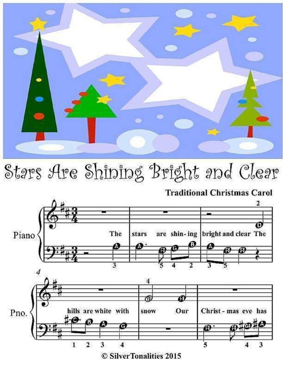 Stars Are Shining Bright and Clear - Beginner Tots Piano Sheet Music