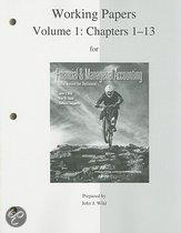 Working Papers For Financial And Magaerial Accounting, Volume 1: Chapters 1-13
