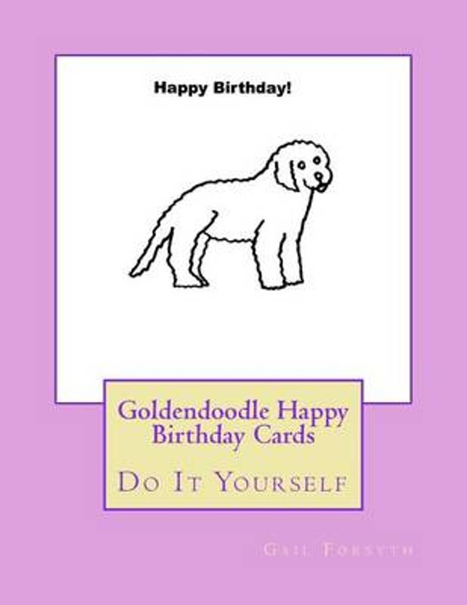 Goldendoodle Happy Birthday Cards