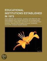 Educational institutions established in 1973