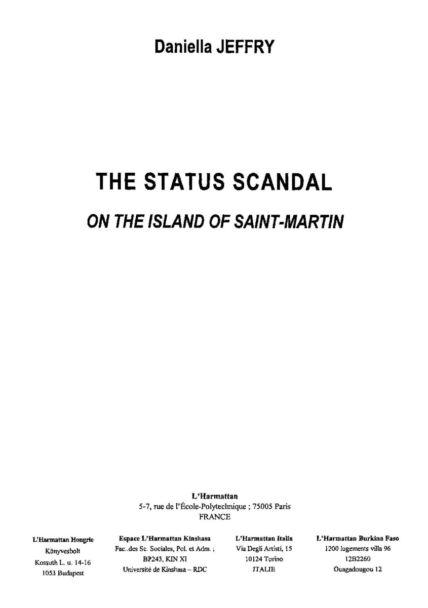 The status scandal on the island of Saint-Martin