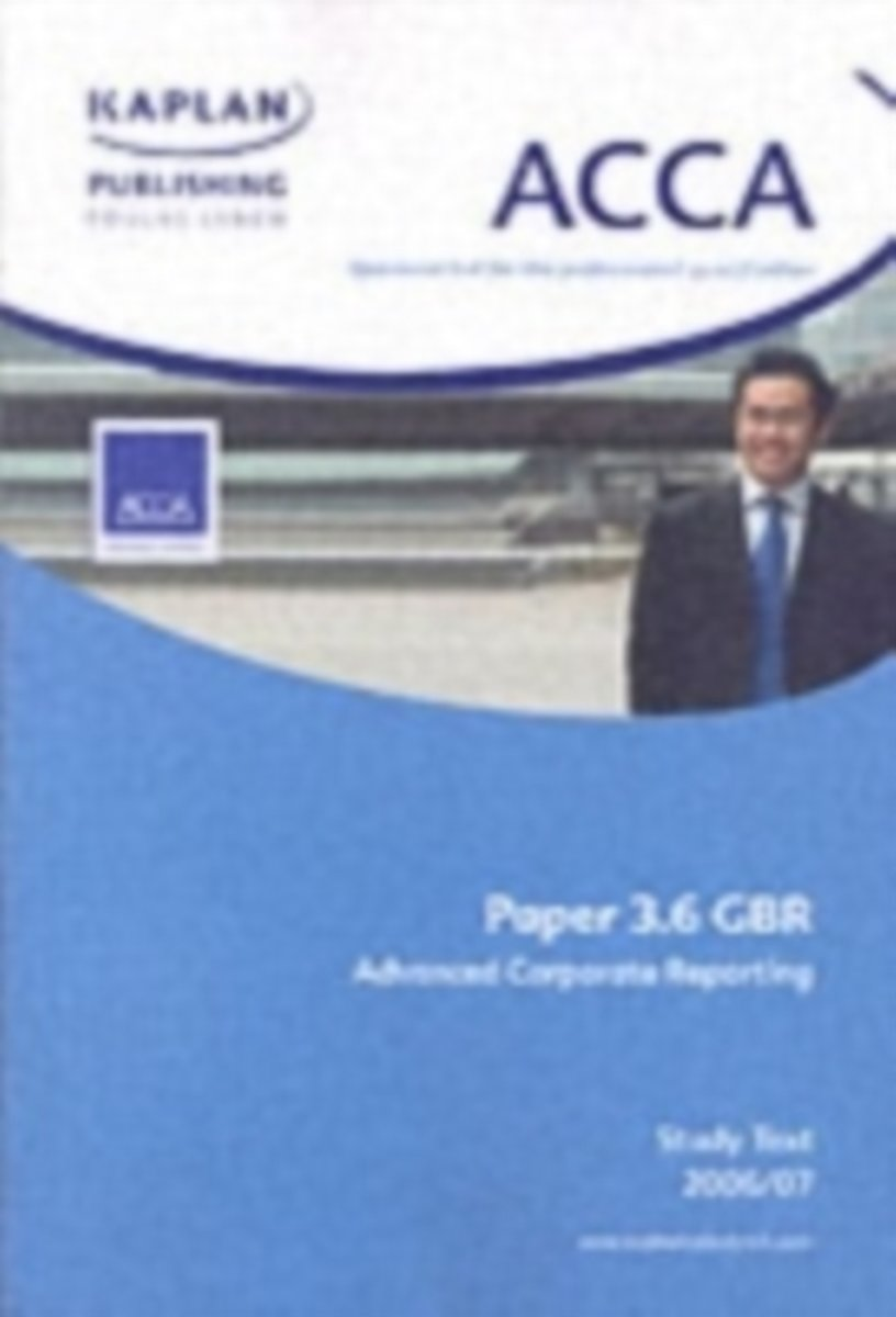 ACCA Paper 3.6 Gbr Advanced Corporate Reporting