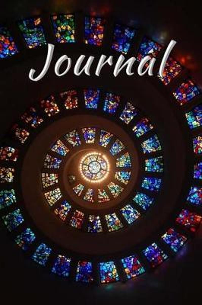 Stained Glass Journal Notebook Diary Lined Blank Pages
