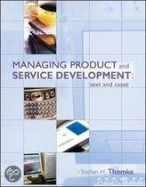 Managing Product and Service Development