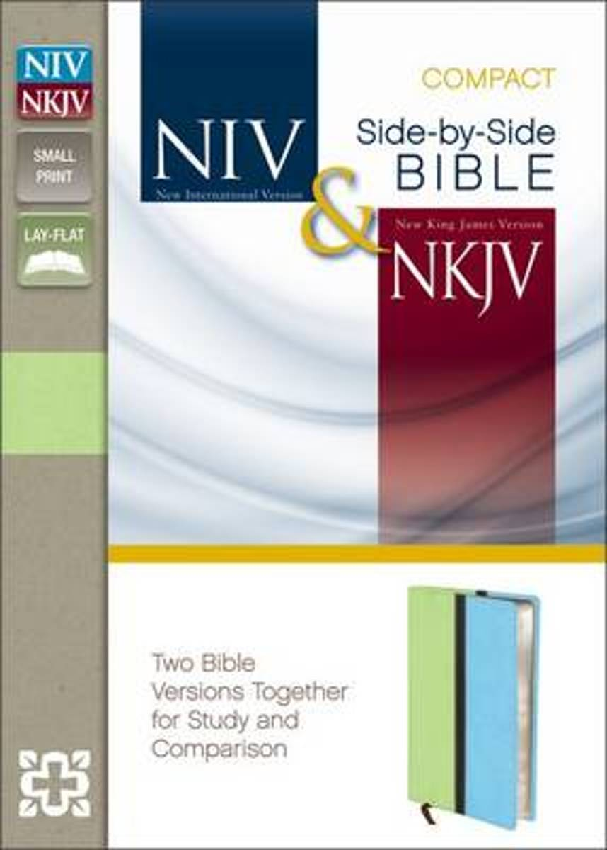NIV, NKJV, Side-by-Side Bible, Compact, Leathersoft, Tan/Brown