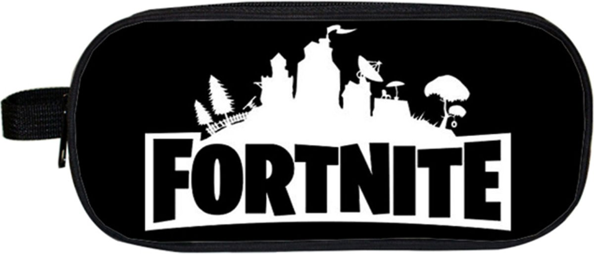 Fortnite Etui XL | School Etui | Etui Zwart Wit | Etui Fortnite