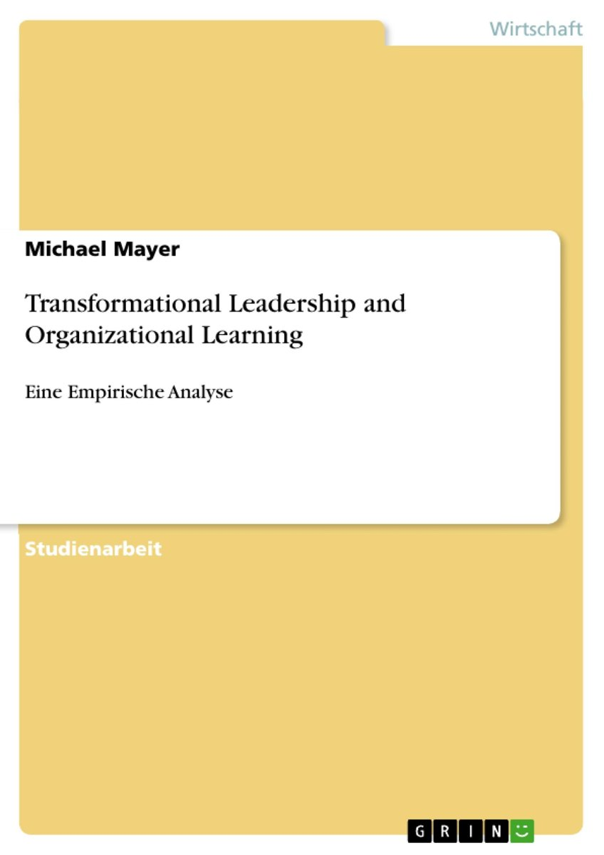 Transformational Leadership and Organizational Learning image