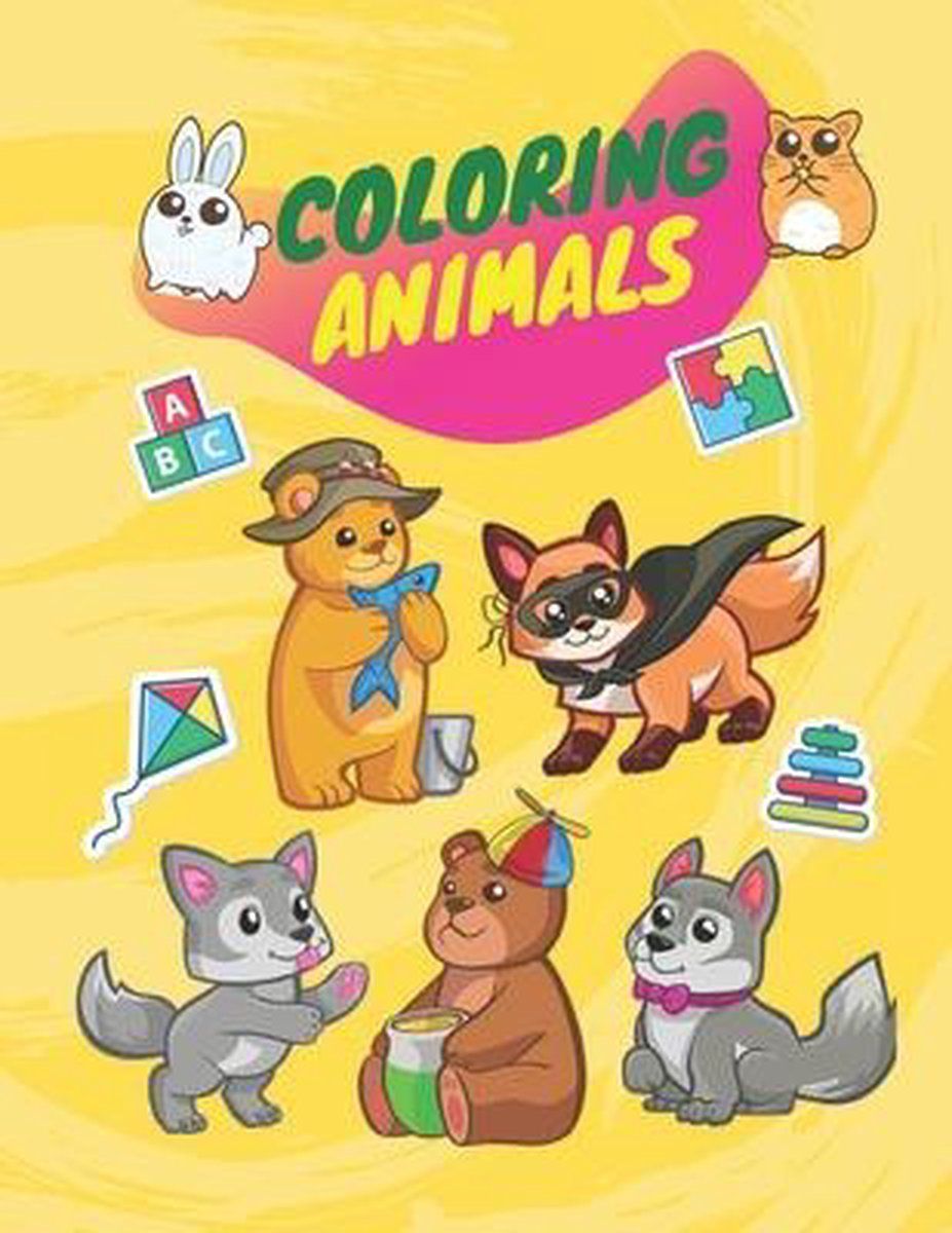 Coloring animals: Coloring book animals