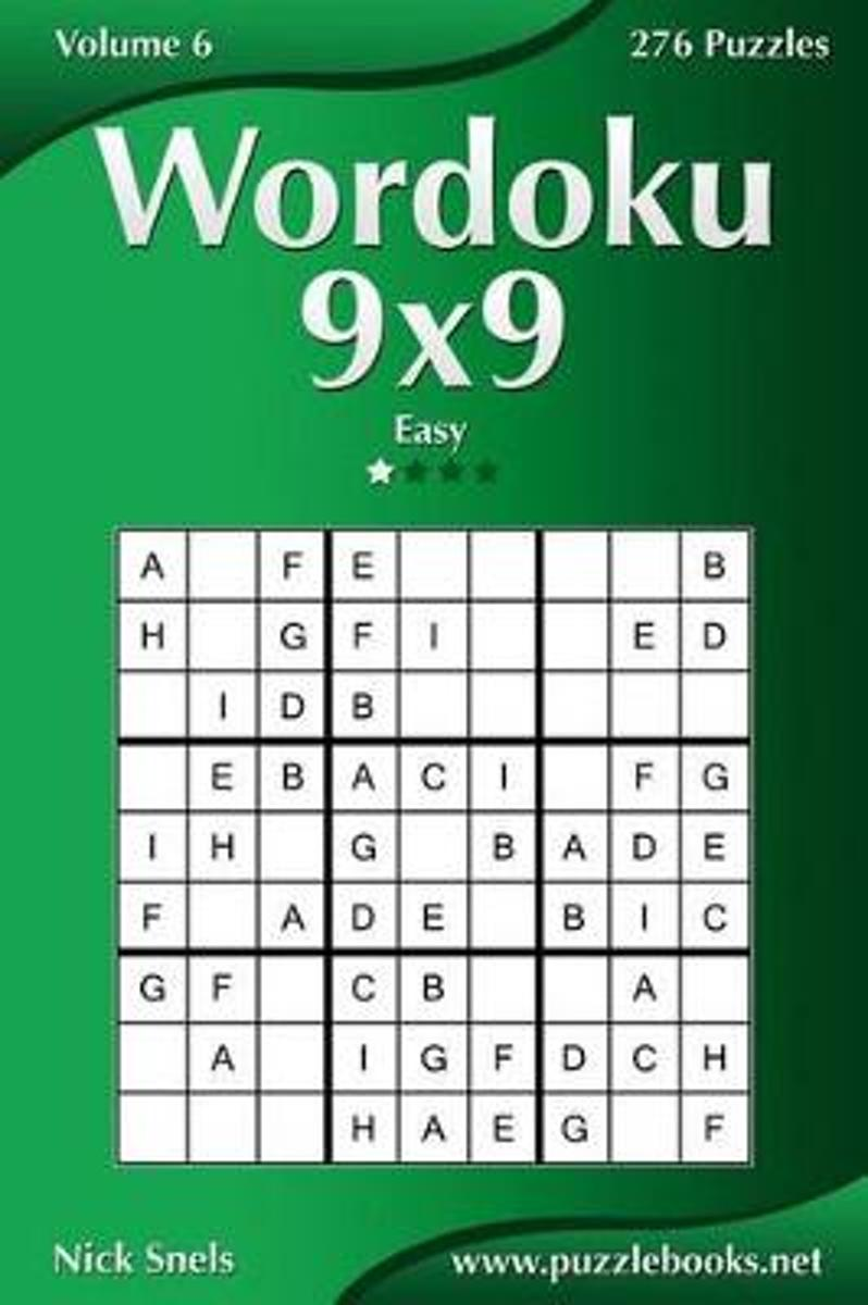 Wordoku 9x9 - Easy - Volume 6 - 276 Logic Puzzles