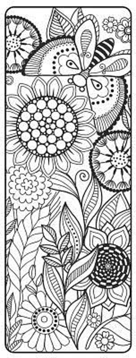 Mothers Day Coloring Bookmark