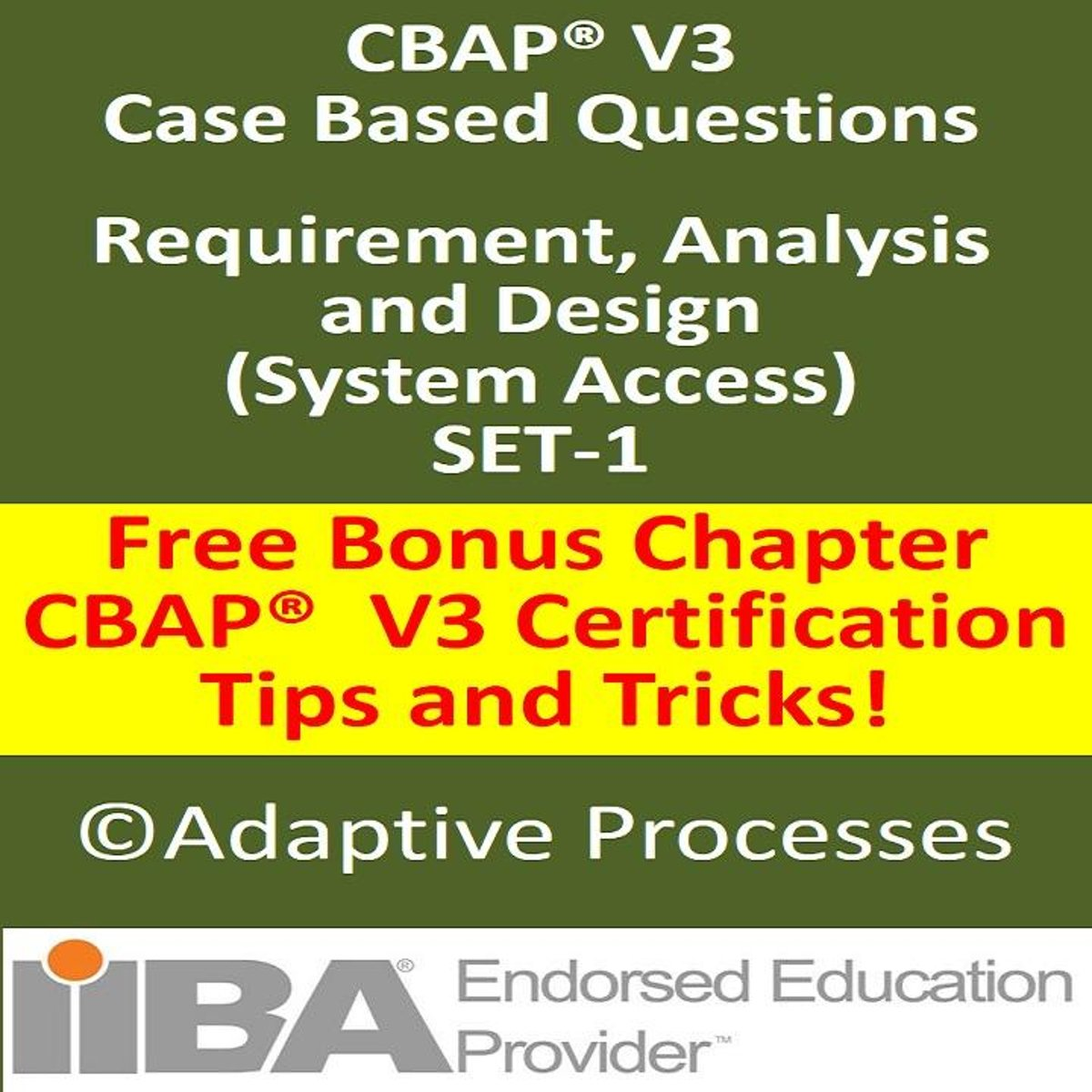 CBAP V3 Case Study Based Question – Requirement, Analysis & Design-SET 1