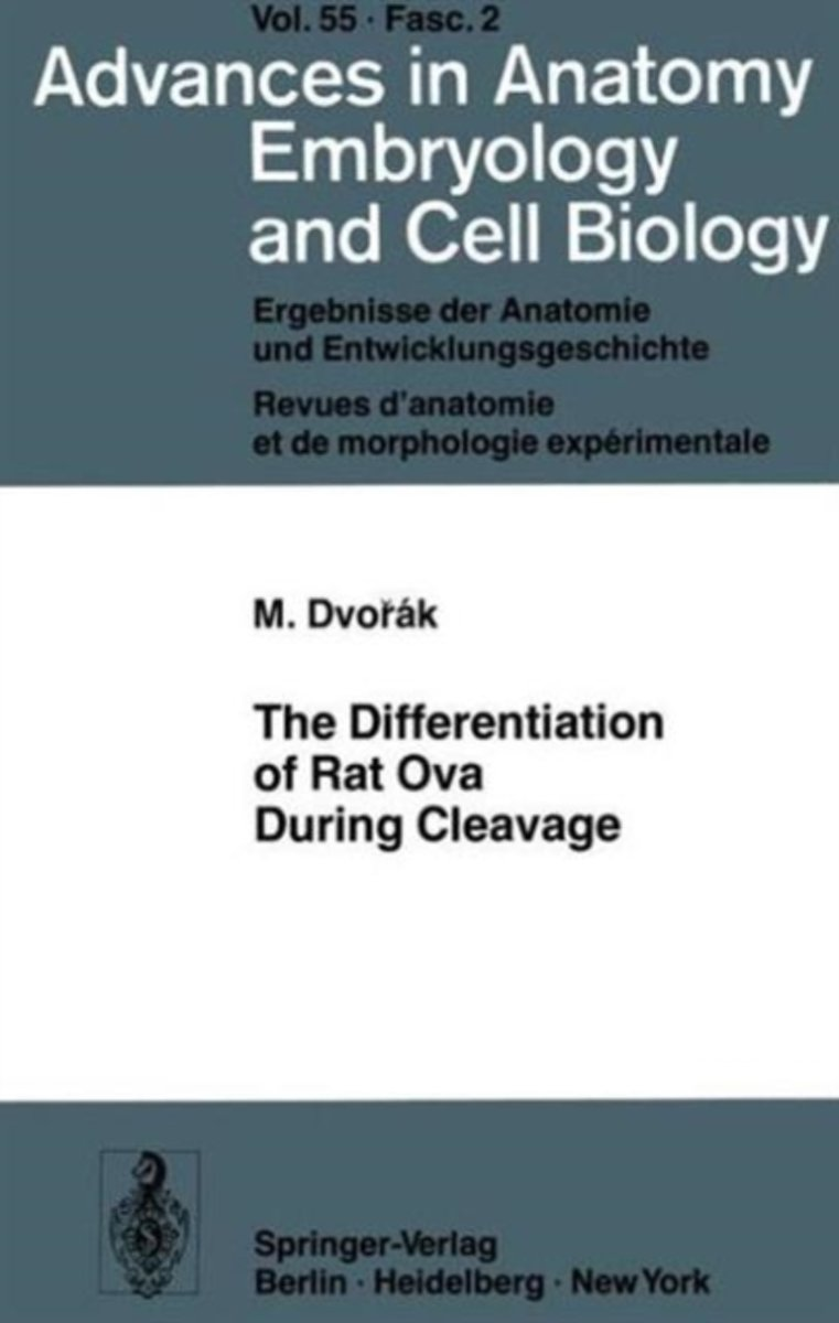The Differentiation of Rat Ova During Cleavage
