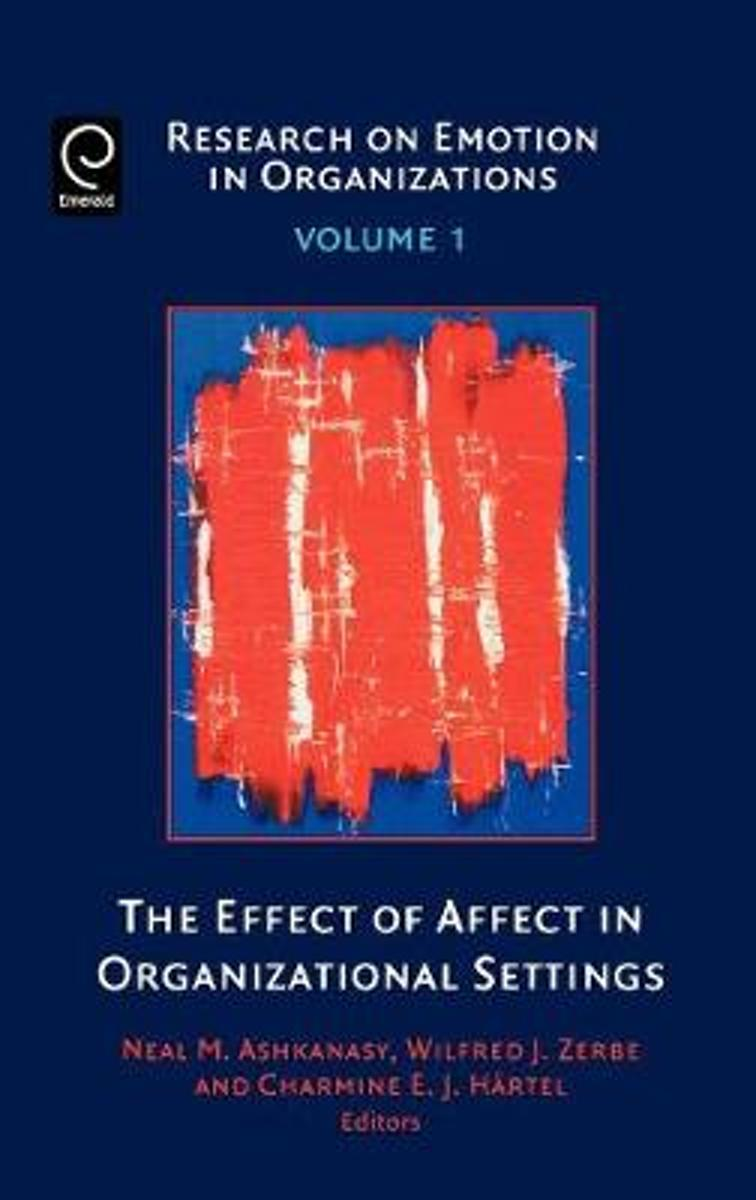 The Effect of Affect in Organizational Settings