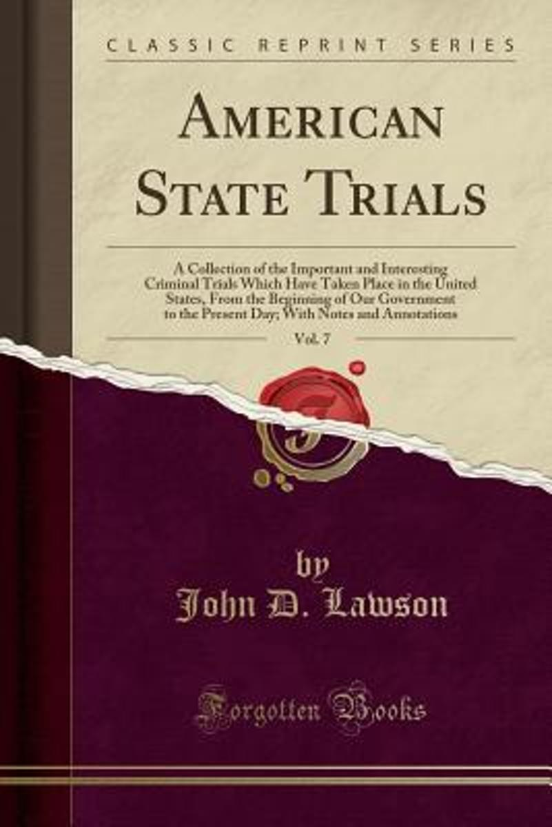 American State Trials, Vol. 7