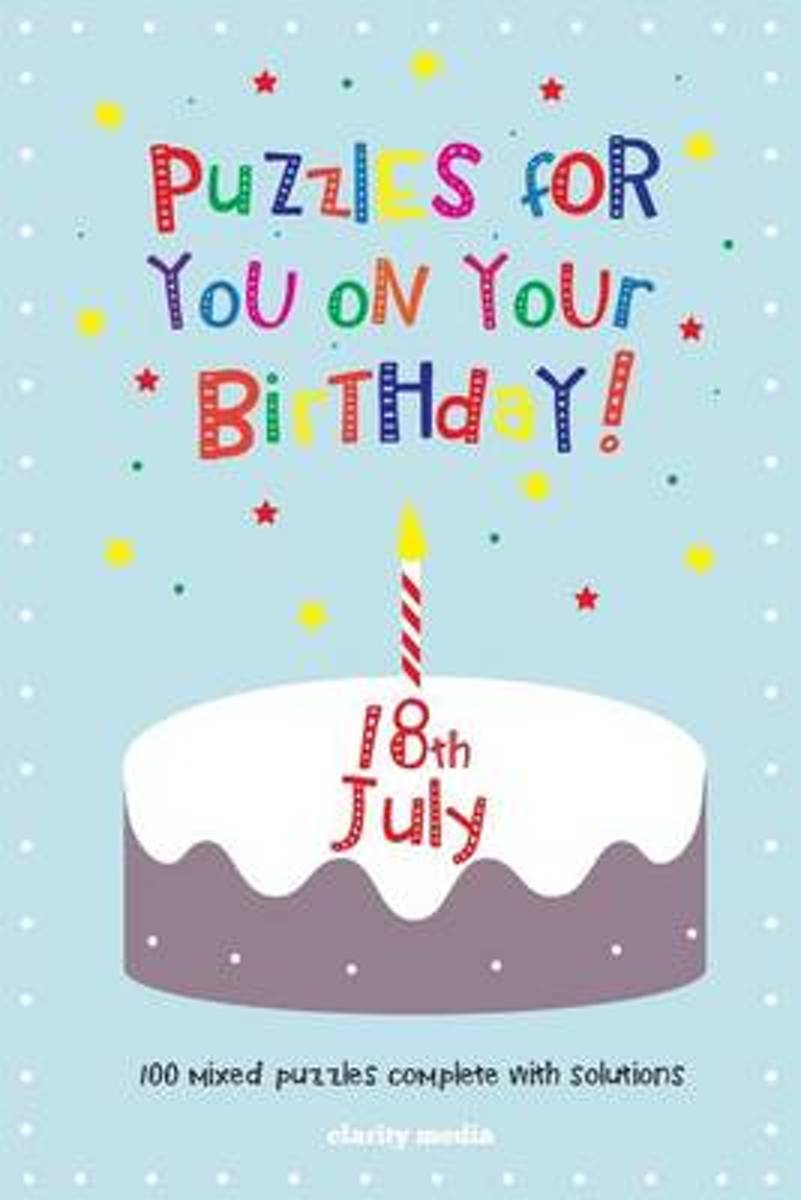 Puzzles for You on Your Birthday - 18th July