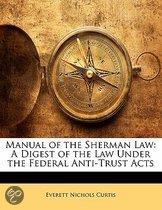 Manual of the Sherman Law