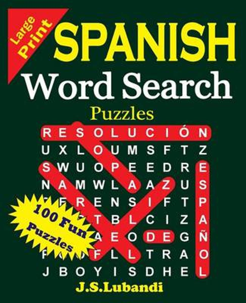 Large Print Spanish Word Search Puzzles