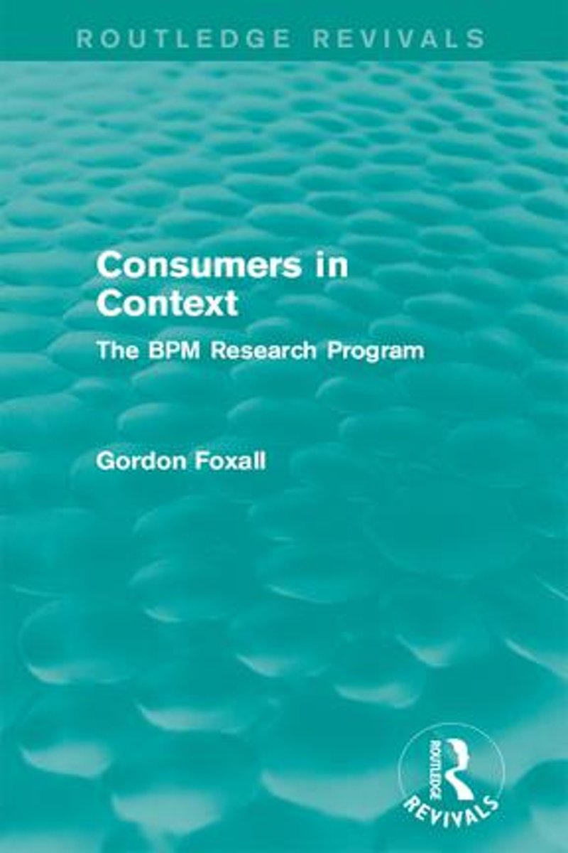 Consumers in Context