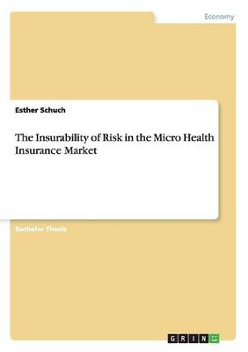 The Insurability of Risk in the Micro Health Insurance Market
