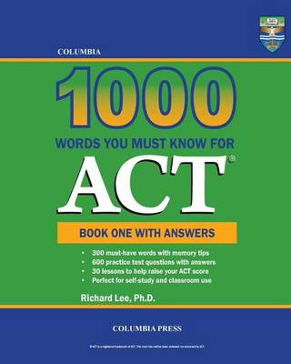 Columbia 1000 Words You Must Know for ACT