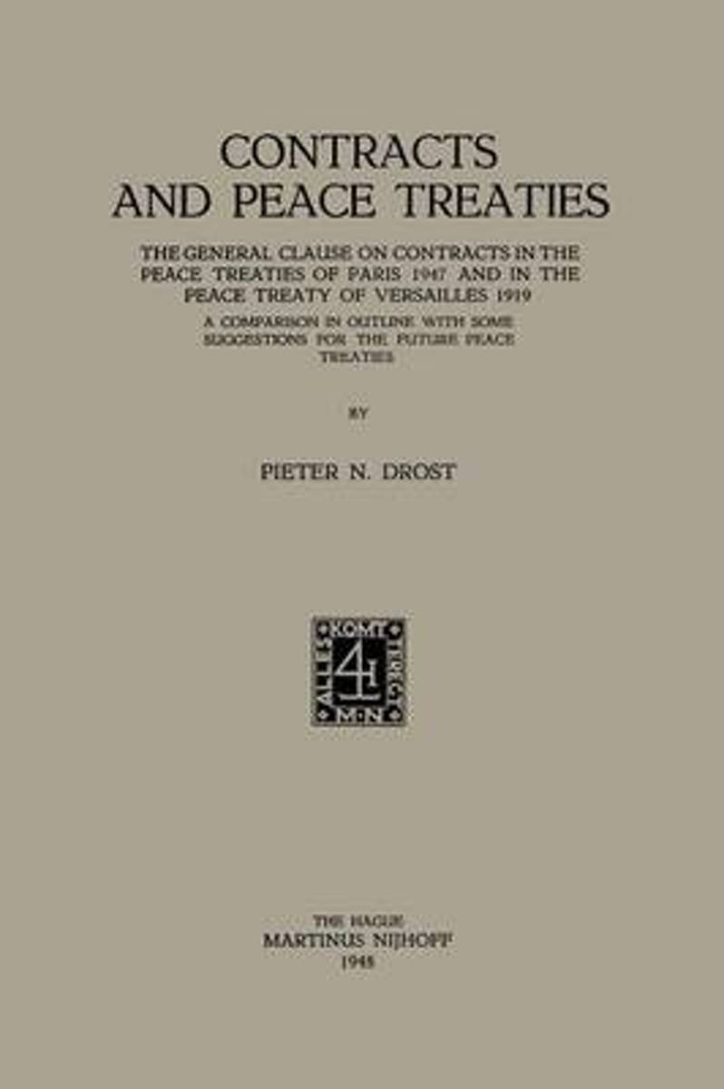 Contracts and Peace Treaties