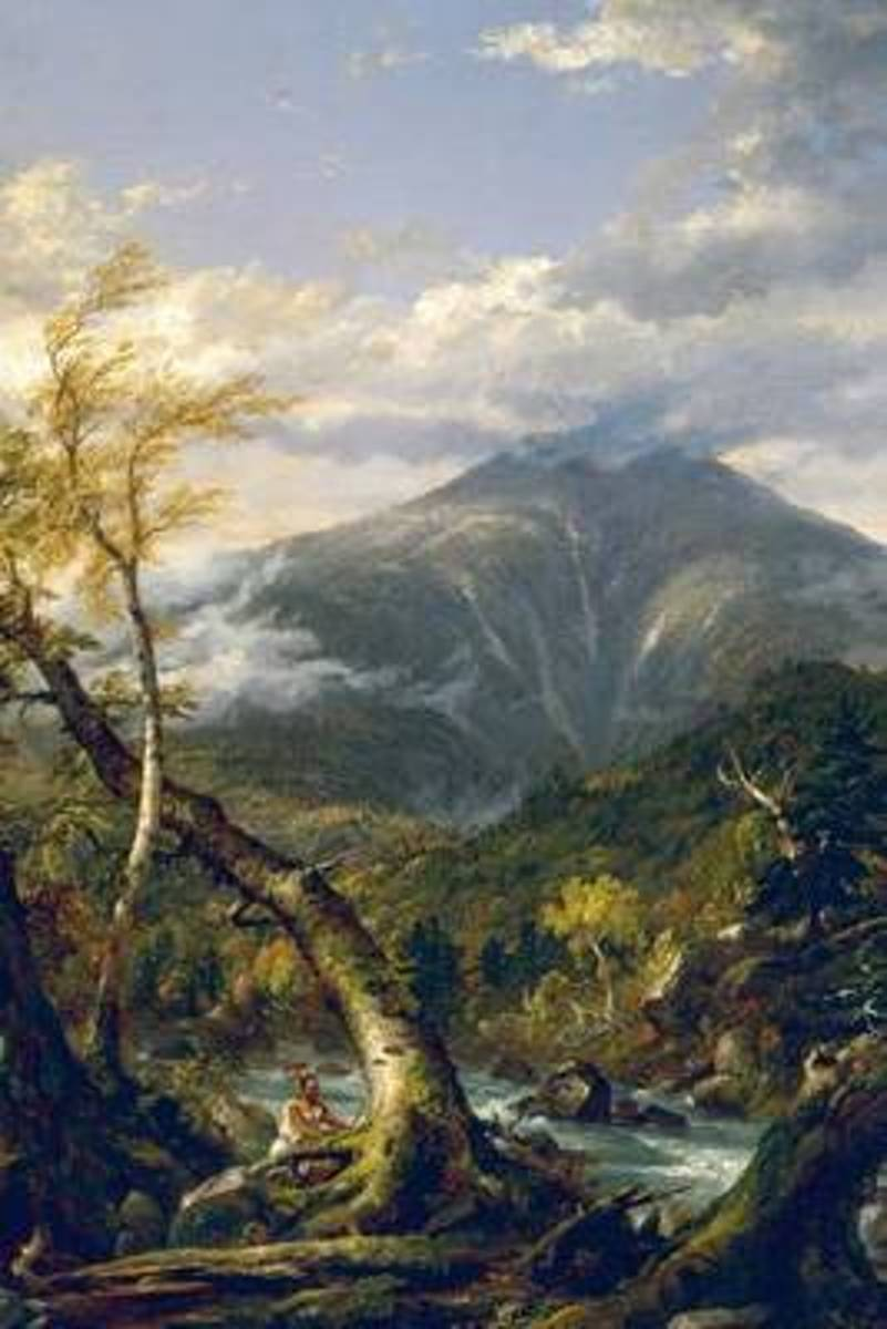 Indian Pass, Thomas Cole. Ruled Journal