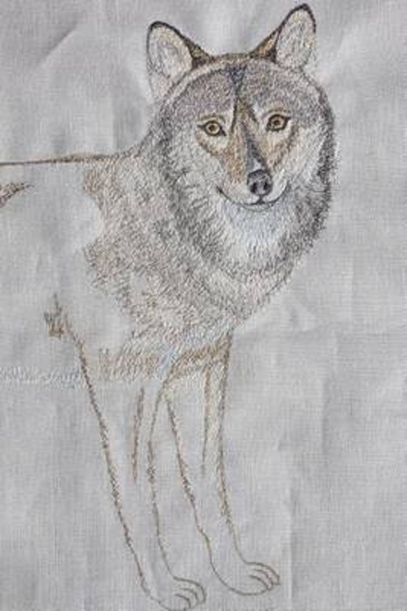 Wolf Embroidery Art Journal