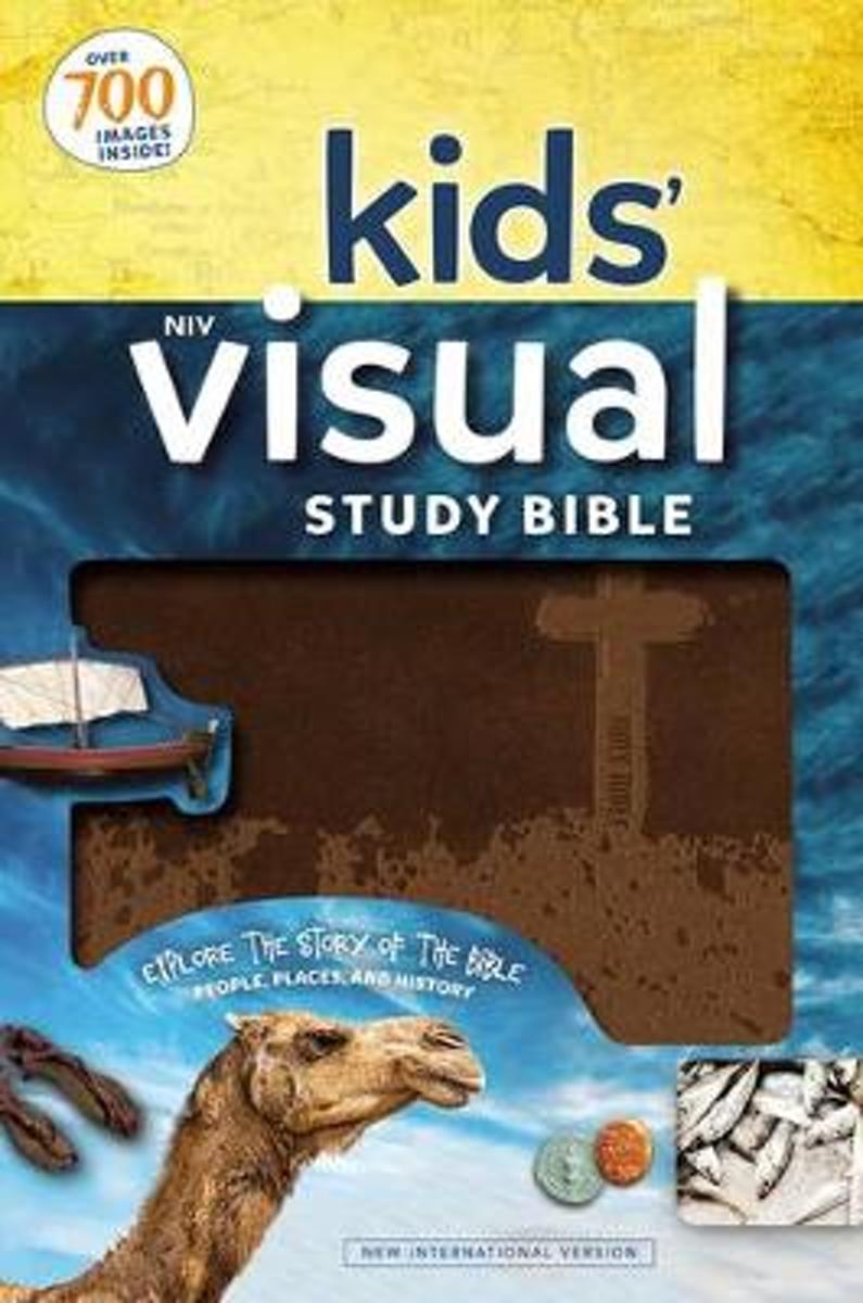 NIV Kids' Visual Study Bible, Leathersoft, Teal, Full Color Interior