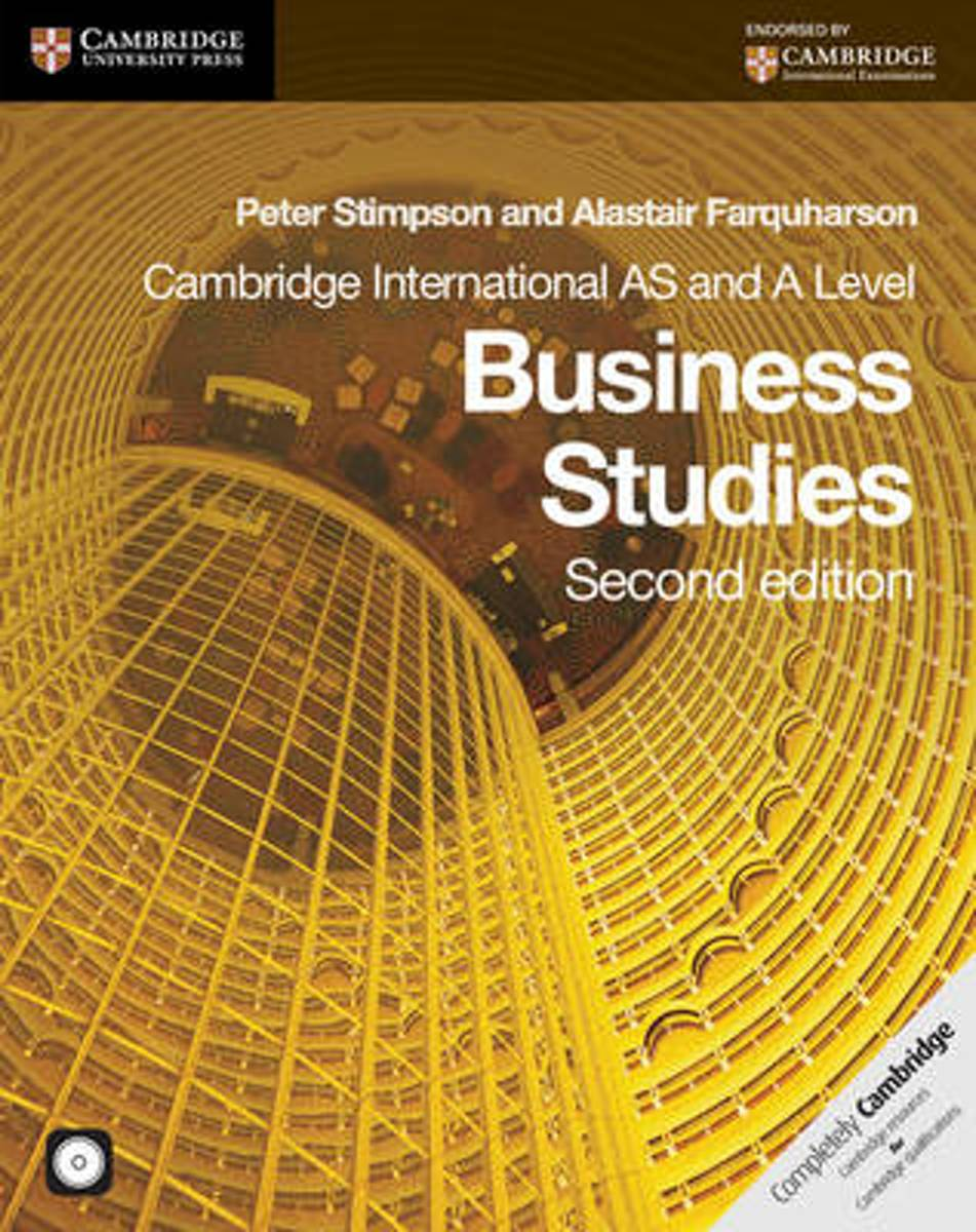 Cambridge International AS and A Level Business Studies Coursebook with CD-ROM