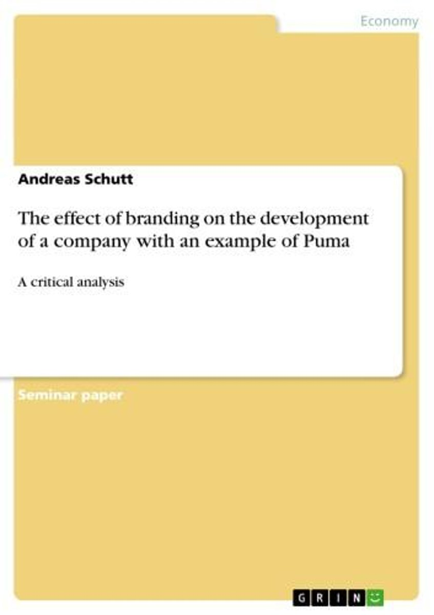 The effect of branding on the development of a company with an example of Puma
