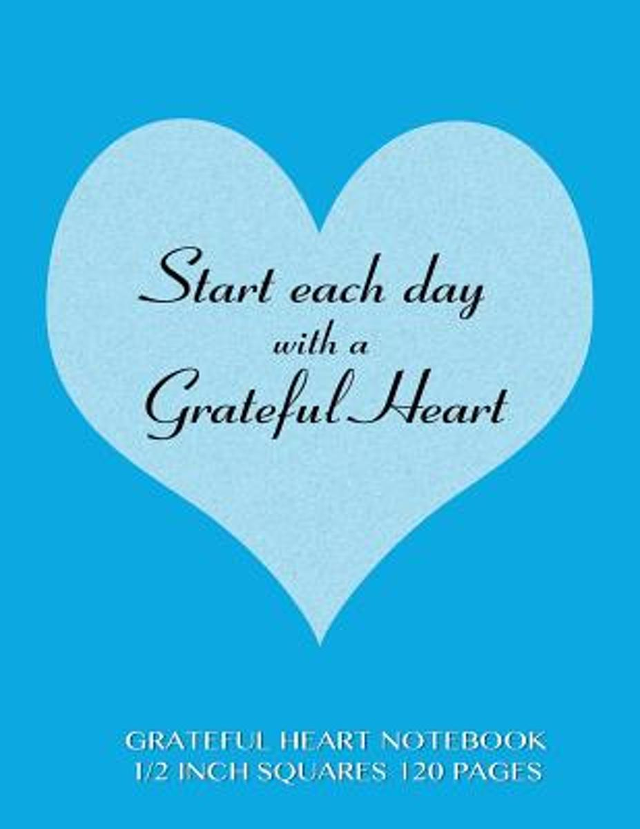 Grateful Heart Notebook 1/2 Inch Squares 120 Pages