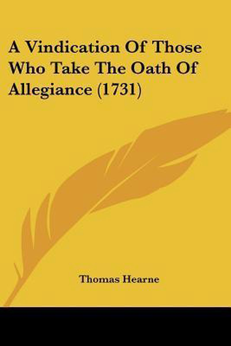 A Vindication of Those Who Take the Oath of Allegiance